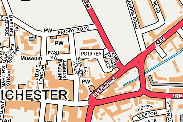 PO19 7BA map - OS OpenMap – Local (Ordnance Survey)