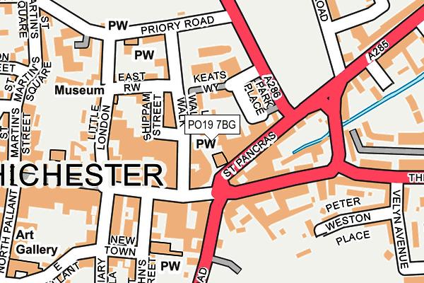 PO19 7BG map - OS OpenMap – Local (Ordnance Survey)