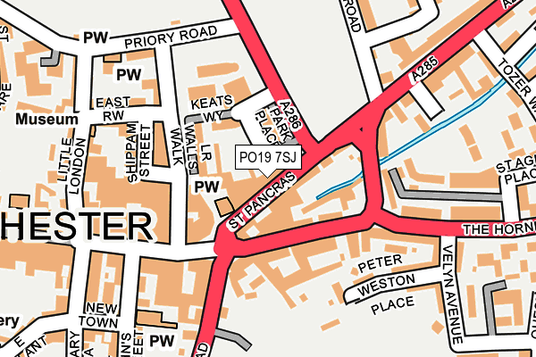 PO19 7SJ map - OS OpenMap – Local (Ordnance Survey)