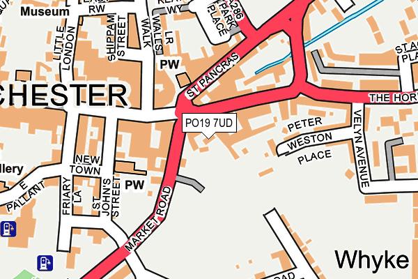 PO19 7UD map - OS OpenMap – Local (Ordnance Survey)