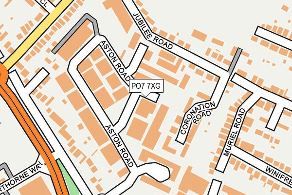 PO7 7XG map - OS OpenMap – Local (Ordnance Survey)