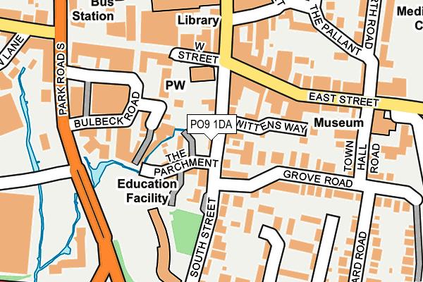 PO9 1DA map - OS OpenMap – Local (Ordnance Survey)