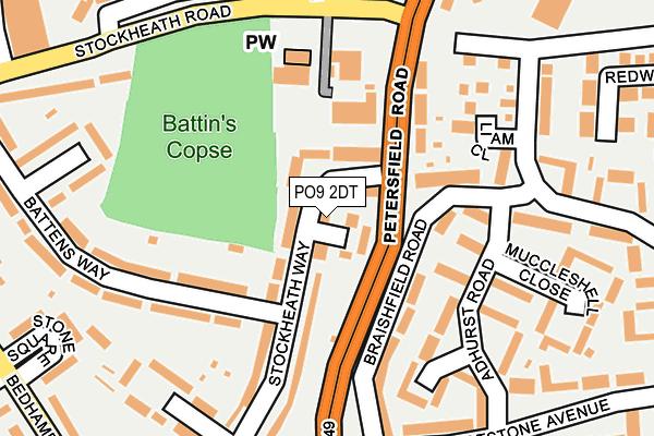 PO9 2DT map - OS OpenMap – Local (Ordnance Survey)
