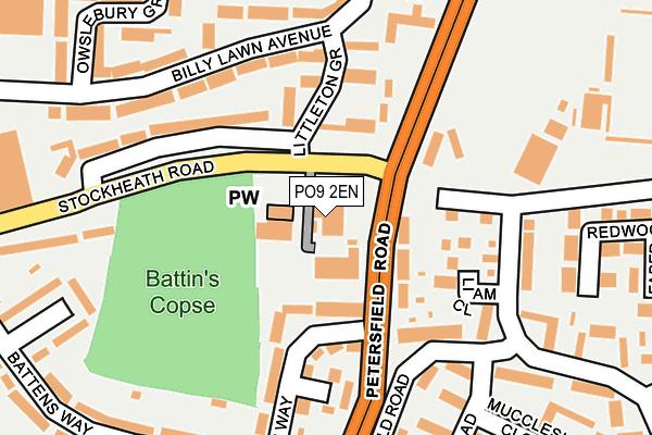 PO9 2EN map - OS OpenMap – Local (Ordnance Survey)
