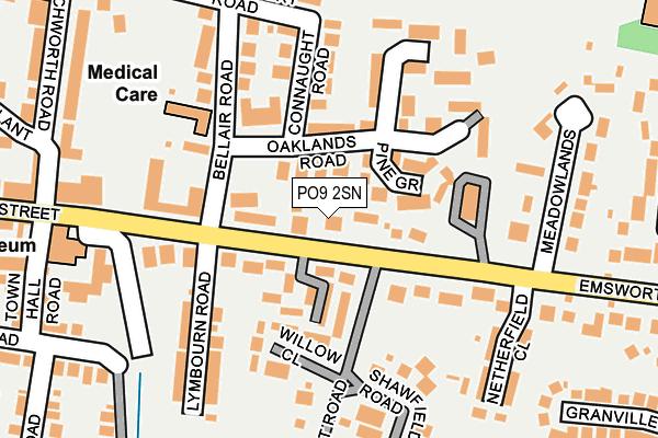 PO9 2SN map - OS OpenMap – Local (Ordnance Survey)