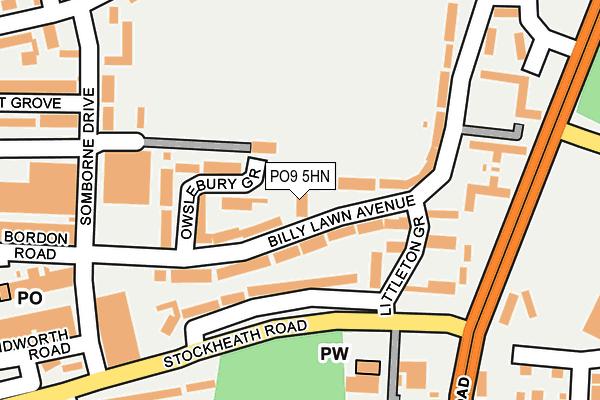 PO9 5HN map - OS OpenMap – Local (Ordnance Survey)