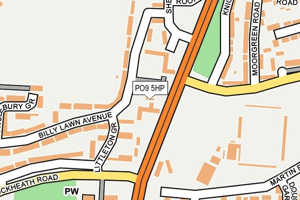 PO9 5HP map - OS OpenMap – Local (Ordnance Survey)