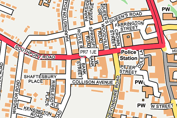 Map of ASHCOMBE PLACE (MANAGEMENT COMPANY) LIMITED at local scale