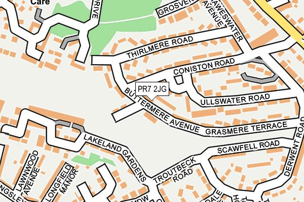 PR7 2JG map - OS OpenMap – Local (Ordnance Survey)
