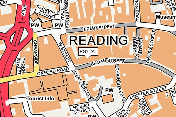 RG1 2AJ map - OS OpenMap – Local (Ordnance Survey)