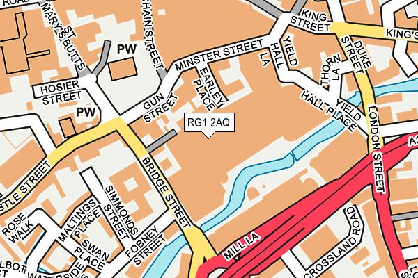 RG1 2AQ map - OS OpenMap – Local (Ordnance Survey)