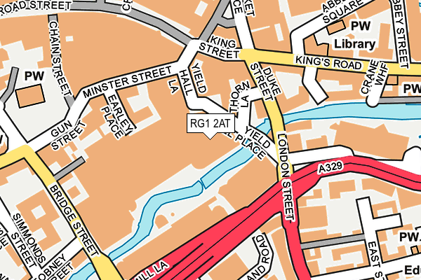 RG1 2AT map - OS OpenMap – Local (Ordnance Survey)