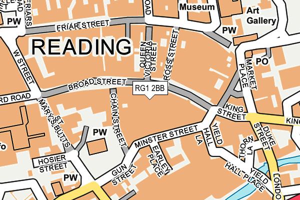 RG1 2BB map - OS OpenMap – Local (Ordnance Survey)