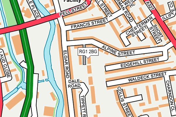RG1 2BG map - OS OpenMap – Local (Ordnance Survey)