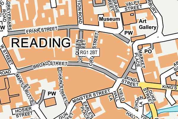 RG1 2BT map - OS OpenMap – Local (Ordnance Survey)