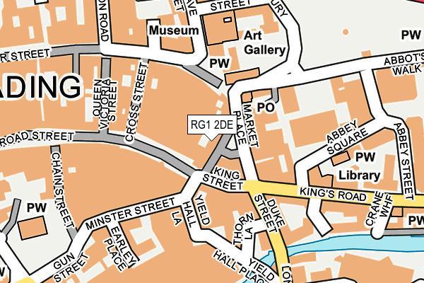 RG1 2DE map - OS OpenMap – Local (Ordnance Survey)