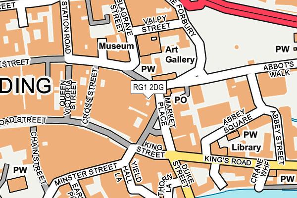 RG1 2DG map - OS OpenMap – Local (Ordnance Survey)
