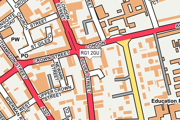 RG1 2GU map - OS OpenMap – Local (Ordnance Survey)