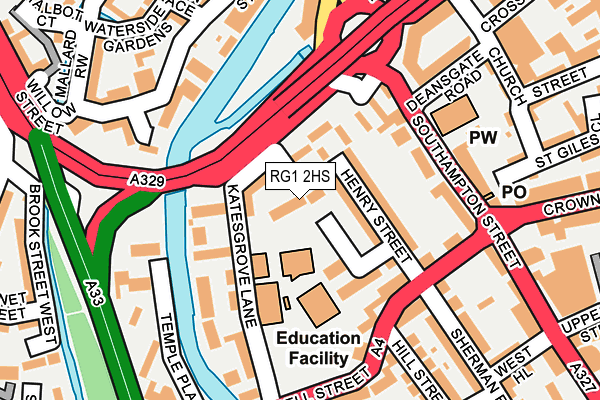RG1 2HS map - OS OpenMap – Local (Ordnance Survey)