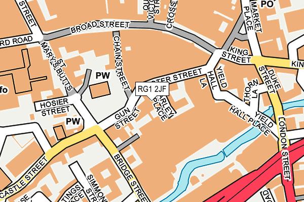 RG1 2JF map - OS OpenMap – Local (Ordnance Survey)