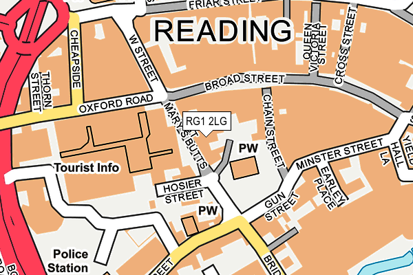 RG1 2LG map - OS OpenMap – Local (Ordnance Survey)