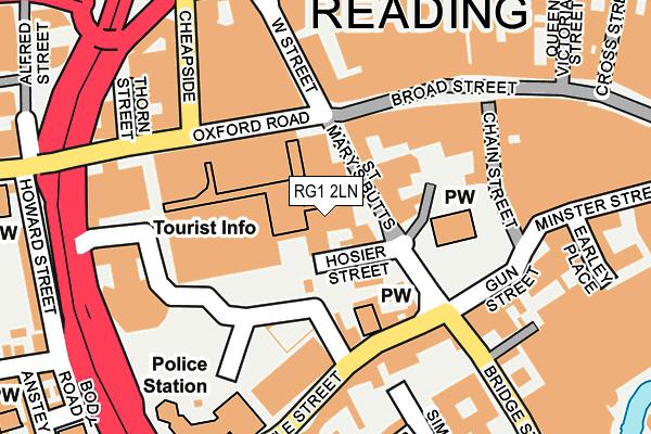 RG1 2LN map - OS OpenMap – Local (Ordnance Survey)