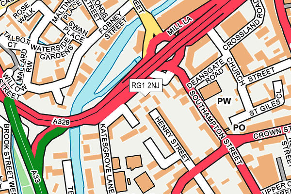 RG1 2NJ map - OS OpenMap – Local (Ordnance Survey)
