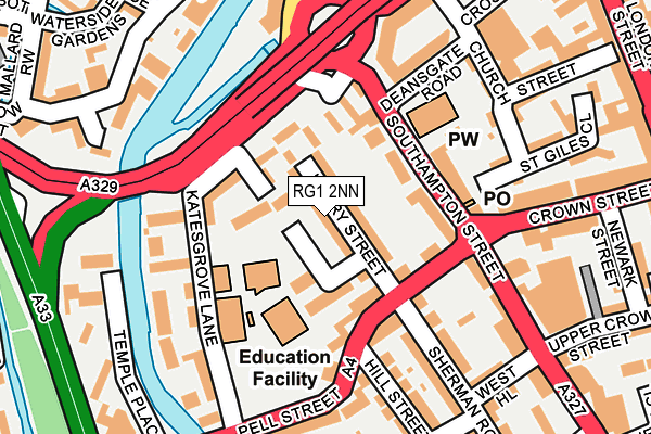 RG1 2NN map - OS OpenMap – Local (Ordnance Survey)