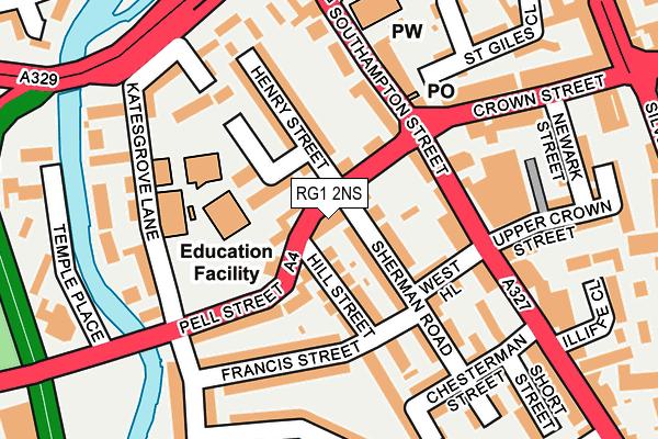 RG1 2NS map - OS OpenMap – Local (Ordnance Survey)