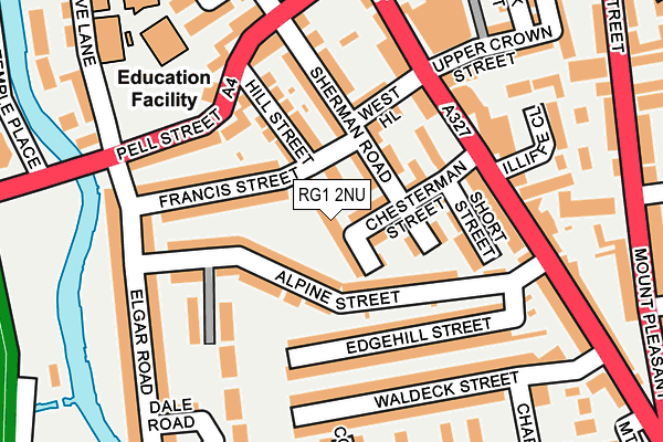 RG1 2NU map - OS OpenMap – Local (Ordnance Survey)