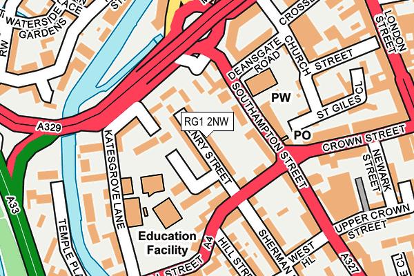 RG1 2NW map - OS OpenMap – Local (Ordnance Survey)