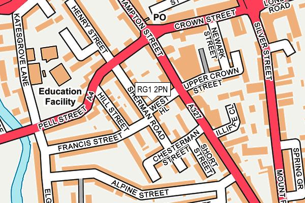 RG1 2PN map - OS OpenMap – Local (Ordnance Survey)