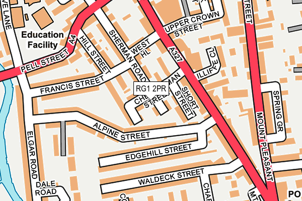 RG1 2PR map - OS OpenMap – Local (Ordnance Survey)