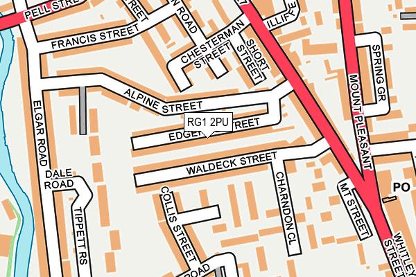 RG1 2PU map - OS OpenMap – Local (Ordnance Survey)
