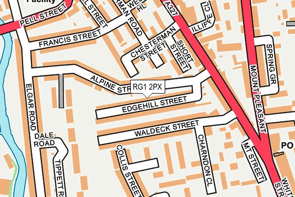 RG1 2PX map - OS OpenMap – Local (Ordnance Survey)
