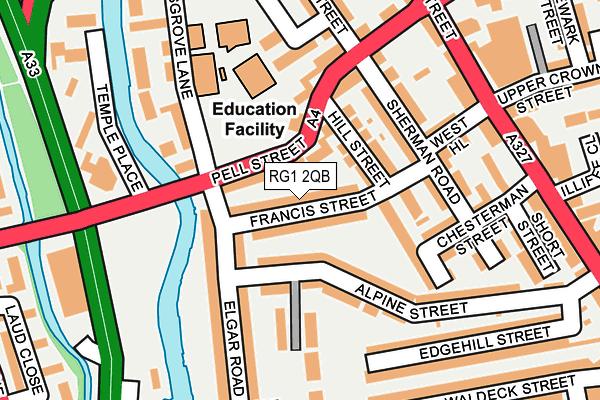 RG1 2QB map - OS OpenMap – Local (Ordnance Survey)