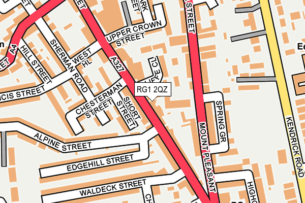 RG1 2QZ map - OS OpenMap – Local (Ordnance Survey)