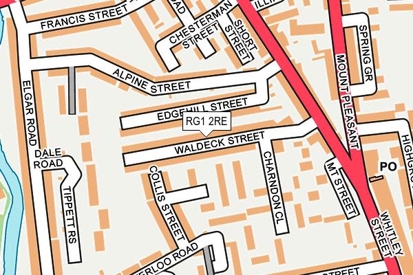 RG1 2RE map - OS OpenMap – Local (Ordnance Survey)