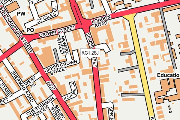 RG1 2SJ map - OS OpenMap – Local (Ordnance Survey)