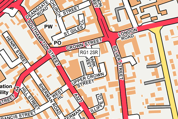 RG1 2SR map - OS OpenMap – Local (Ordnance Survey)
