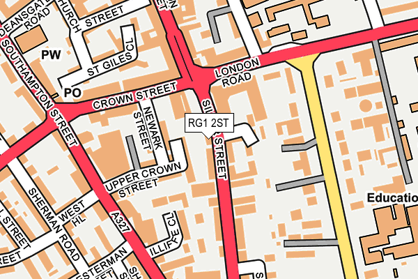 RG1 2ST map - OS OpenMap – Local (Ordnance Survey)