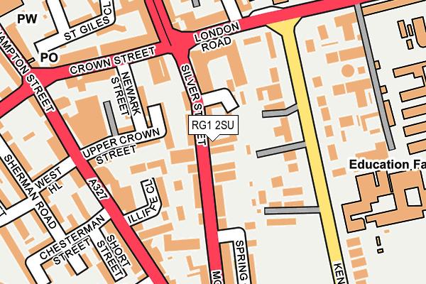 RG1 2SU map - OS OpenMap – Local (Ordnance Survey)