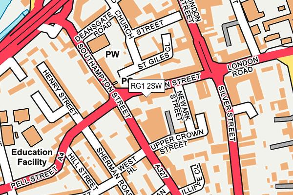RG1 2SW map - OS OpenMap – Local (Ordnance Survey)
