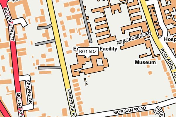 RG1 5DZ map - OS OpenMap – Local (Ordnance Survey)
