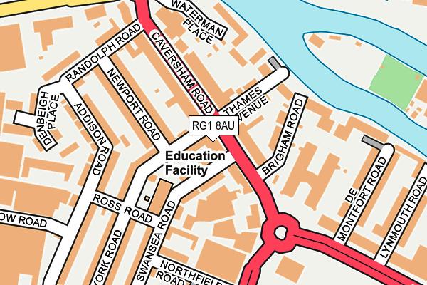 RG1 8AU map - OS OpenMap – Local (Ordnance Survey)