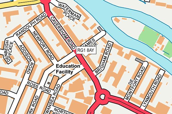 RG1 8AY map - OS OpenMap – Local (Ordnance Survey)