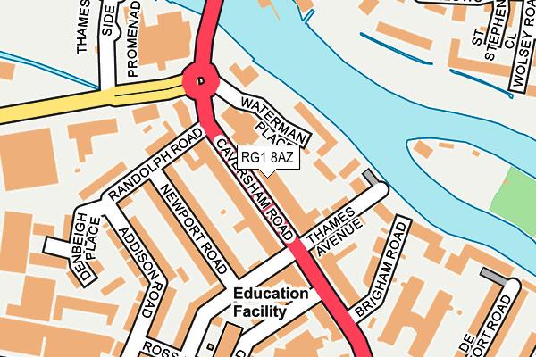 RG1 8AZ map - OS OpenMap – Local (Ordnance Survey)