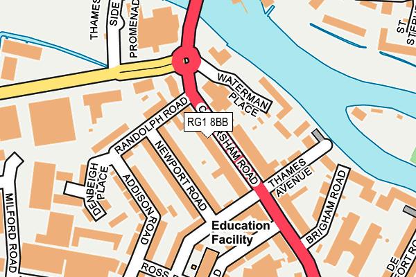 RG1 8BB map - OS OpenMap – Local (Ordnance Survey)
