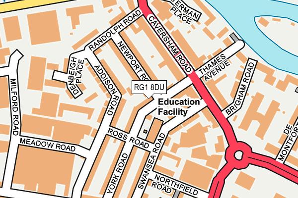 RG1 8DU map - OS OpenMap – Local (Ordnance Survey)