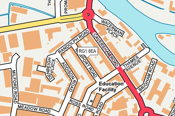RG1 8EA map - OS OpenMap – Local (Ordnance Survey)